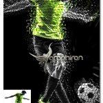 اکشن فتوشاپ خرد کردن بخش های مختلف عکس Poly Shatter Photoshop Action