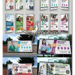 دانلود ۶ نمونه بنر استند و بیلبورد لایه باز Rollup Banner & Billboard Bundle