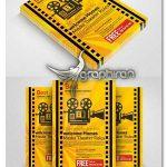 دانلود نمونه تراکت تبلیغاتی تئاتر و سینما لایه باز Theater Movie Flyer