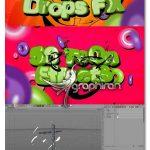 دانلود پروژه آماده Cinema 4D و کلیپ های آلفا Toons Tool 4D (Drops FX)