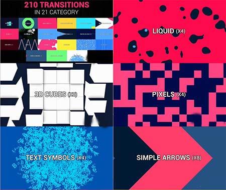 مجموعه 210 ترانزیشن موشن گرافیک افتر افکت