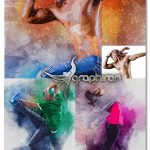 اکشن فتوشاپ افکت اثر قلموی رنگی Whisk Photoshop Action