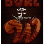 اکشن فتوشاپ ساخت افکت چوب Burl Wood Photoshop Action