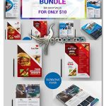 مجموعه ۱۰ طرح آماده تراکت تبلیغاتی PSD لایه باز برای مشاغل مختلف