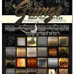 دانلود ۲۴ استایل گرانج برای فتوشاپ Styles Grunge Collection