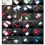 دانلود رایگان 40 طرح آماده کارت ویزیت PSD لایه باز - شماره 431