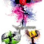 اکشن فتوشاپ افکت نقاشی انتزاعی Abstract Watercolor Photoshop Action