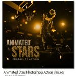 اکشن فتوشاپ ستاره های متحرک Animated Stars Photoshop Action