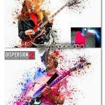 اکشن فتوشاپ انتشار ذرات عکس به شکل رنگ Dispersion 2 Photoshop Action