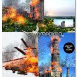 اکشن فتوشاپ ایجاد افکت آتش شعله ور Fire Photoshop Action