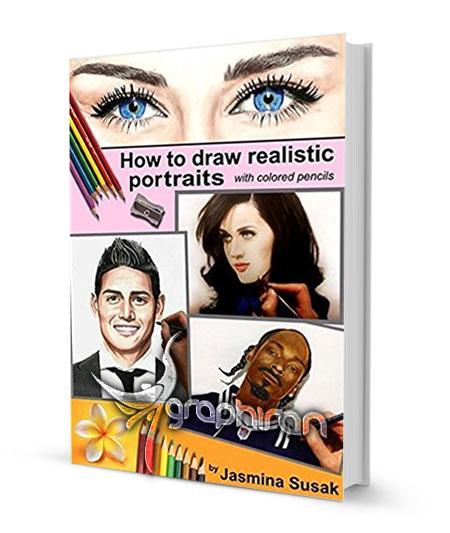 کتاب آموزش نقاشی پرتره واقع گرایانه با مداد رنگی