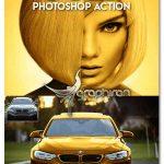 اکشن فتوشاپ طلایی کردن سوژه در عکس MicroPro Gold Photoshop Action