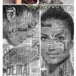 اکشن فتوشاپ افکت پرینت روزنامه روی سوژه Paper Print Photoshop Action