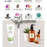 دانلود 12 نمونه آماده لوگو سالن زیبایی و آرایشگاه Set Beauty Salon