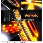 پروژه افتر افکت نمایش لوگو نئون 3 بعدی Neon Spheres Element 3D Opener