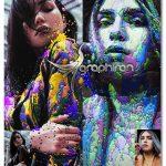 اکشن فتوشاپ نقاشی عکس با ریختن رنگ Paints Photoshop Action