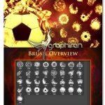 دانلود مجموعه ۳۳ براش فتوشاپ توپ آتشین Fireball Brushes