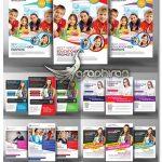۵ طرح تراکت تبلیغاتی مدرسه و کودکان Kids School Education Flyer Bundle