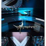 پروژه افتر افکت نمایش لوگوی شیشه ای زیبا Cool Glass Logo