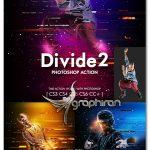 اکشن فتوشاپ خطوط موازی گرافیکی Divide 2 Photoshop Action