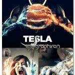اکشن فتوشاپ افکت تسلا Tesla CS3+ Photoshop Action