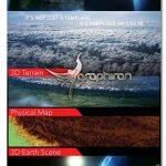 پروژه افتر افکت ساخت نقشه جغرافیایی ۳ بعدی ۳D Geographical Map
