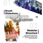 دانلود پروژه پریمیر اسلایدشو عکس سبک قلمو Brush Slideshow