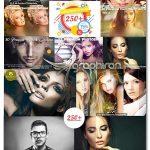 مجموعه ۲۲۰ اکشن حرفه ای فتوشاپ Mix Professional 220 Actions Bundle