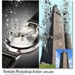 اکشن فتوشاپ تکه تکه کردن سوژه Particles Photoshop Action