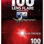 دانلود مجموعه 100 براش فتوشاپ افکت نور Lens Flare Brushes