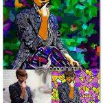 اکشن فتوشاپ نقاشی انتزاعی Abstract Illustration Photoshop Artwork
