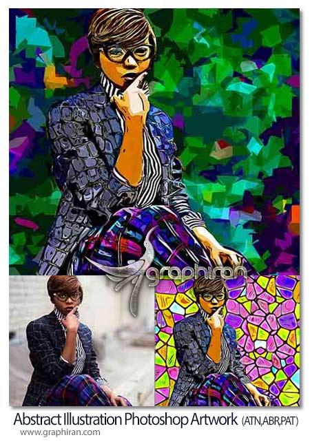 اکشن فتوشاپ نقاشی انتزاعی