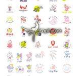 دانلود مجموعه تصاویر وکتور لوگوی فروشگاه سیسمونی و لباس کودک