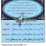 فونت فارسی، عربی و اردو حسن عناس Hasan Enas Font Family
