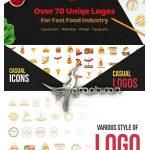 دانلود ۷۰ طرح لوگوی فست فود وکتور Over 70 Various Logos for Fast Food