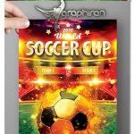 دانلود طرح پوستر جام جهانی ۲۰۱۸ روسیه World Soccer Cup V2 2018 Flyer
