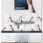 دانلود ۶ طرح ماک آپ تراکت در دست واقع گرایانه A4 Flyer Mockup