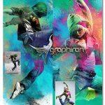 اکشن فتوشاپ پاشیدن گردهای رنگی Color Dust Photoshop Action