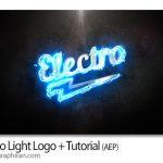 پروژه آماده افتر افکت نمایش لوگو با نور الکتریکی Electro Light Logo