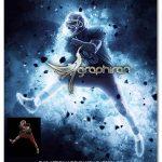 اکشن فتوشاپ افکت نور آبی خیره کننده Infinity Photoshop Action