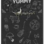 دانلود پک المان های وکتور خطی مرتبط با غذا YUMMY Food Doodles