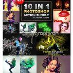 مجموعه ۱۰ اکشن قدرتمند و خلاقانه فتوشاپ Photoshop Action Bundle V-1