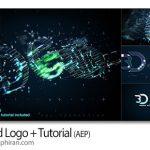 دانلود رایگان پروژه افتر افکت لوگوی ۳ بعدی شبکه ای ۳D Grid Logo