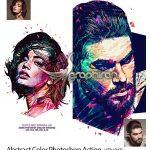 اکشن فتوشاپ افکت رنگ های انتزاعی Abstract Color Photoshop Action