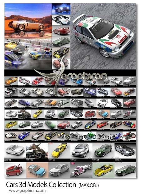 Cars 3d Models Collection