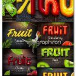 دانلود استایل های فتوشاپ میوه جات Fruit Text Effects for Photoshop