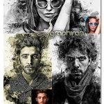 اکشن فتوشاپ تبدیل عکس به نقاشی مدرن Modern Art Photoshop Action
