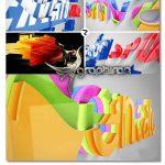 پروژه افتر افکت حرکت آبشاری لوگوی 3 بعدی Realistic Cascading 3D Logo