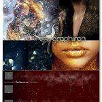 دانلود ۱۸۰ براش و ۶۷ استایل فتوشاپ ذرات براق Ron's Glitter