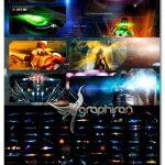 دانلود ۴۵۰ براش فتوشاپ نور لنز فضایی Rons Sci-Fi Optical Flares Brushes